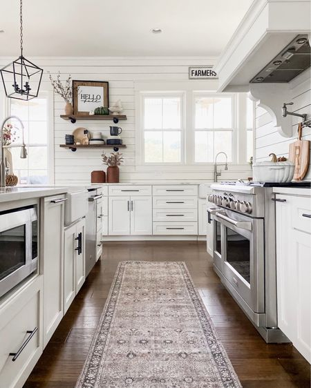 Walmart washable rugs and runners! Perfect for your kitchen and bathroom. Modern farmhouse home design and decor affordable accents kitchen design pendant  lighting open shelving dishes and tabletop dinner ware gap home Walmart home   #LTKhome #LTKunder50 #LTKunder100