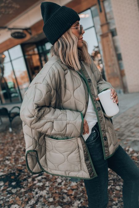 Fall quilted jacket cellajaneblog