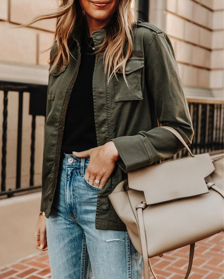 Love this green utility jacket for late summer early fall!   #LTKunder100 #LTKstyletip