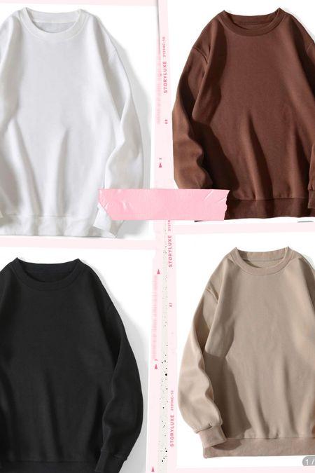 SHEIN sweatshirt under $10!!! Comes in a ton of colors   #LTKunder50 #LTKstyletip #LTKunder100