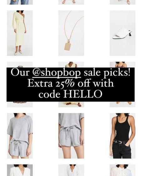 Shopbop sale! Extra 25% off with the code HELLO http://liketk.it/3h5jo #liketkit @liketoknow.it #LTKsalealert #LTKunder100
