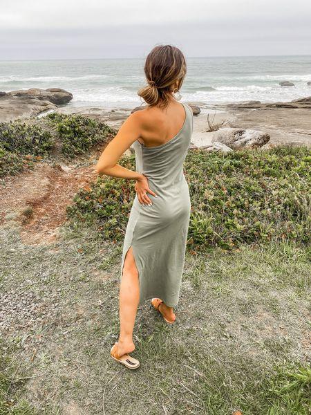 Sea folly // maxi dress // green dress // one shoulder dress // beach dress   #LTKunder100 #LTKSeasonal #LTKtravel