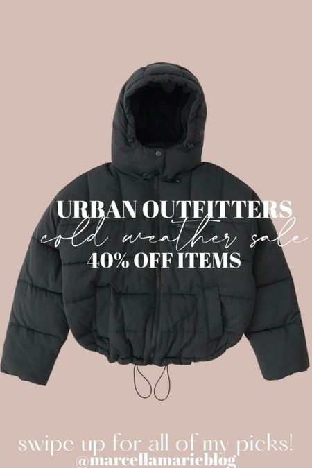 urban outfitters outerwear & cold weather sale! lots of pieces are already on sale + an additional 40% off!! http://liketk.it/32RLK #liketkit @liketoknow.it