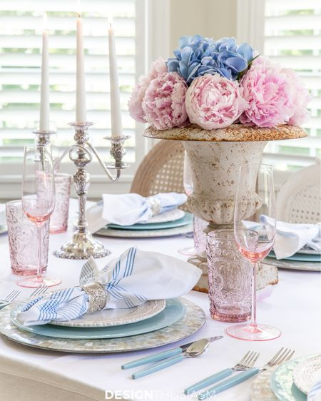This wonderful summer table was inspired by mid century pastels on the Riviera! Bring the look home by shopping here! http://liketk.it/3izMf #liketkit @liketoknow.it #LTKhome @liketoknow.it.home