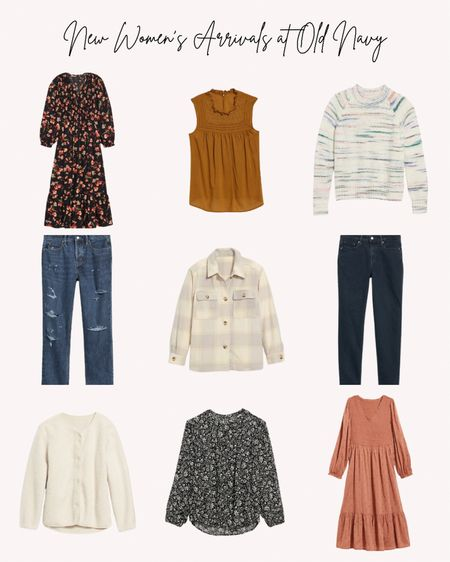New women's clothing, old navy, fall, autumn, sweaters, dresses, jeans, jacket, shacket, blouse, tops   Follow me for more ideas and sales.   Double tap this post to save it for later    #LTKSeasonal #LTKstyletip #LTKunder50