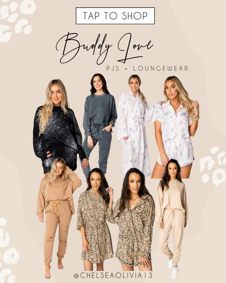Loungewear and pajama sets from Buddy Love!! So soft and luxurious!  #LTKtravel #LTKstyletip #LTKunder100