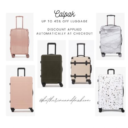 Calpak luggage up to 45% off! Carry on & check-ins. I have the Astyll Carry On in the floral print (no longer sold sadly), but the marble and solid prints are cute as well! Really durable, I've had it for 6+ years now.    #LTKsalealert #LTKtravel #LTKunder100