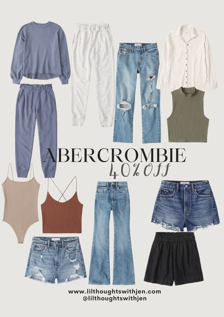 Abercrombie is having a 40% sale off of some of my favorite pieces including their high rise mom shorts that come in various washes and basics that will last seasons!   #LTKstyletip #LTKunder100 #LTKsalealert