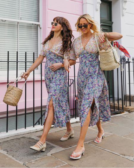 @liketoknow.it #liketkit http://liketk.it/3gEMi coast ditsy floral mixed print midi dress and basket bags