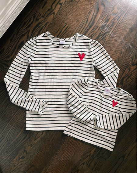 On sale: matching striped tee shirts  . 100% Pima cotton is super soft against the skin   Note: I got Kids sz 12 which fits like a women's xs   Also linked a few of our other Hanna Andersson favorites like matching family fall pjs and the best no wedgie toddler underpants !  #LTKSeasonal #LTKfamily #LTKkids
