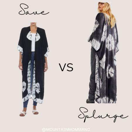 I'm a big kimono fan and both of these are awesome! Win Win  Duster : Tie Dye : Free People : Boho  #LTKunder50 #LTKsalealert #LTKstyletip
