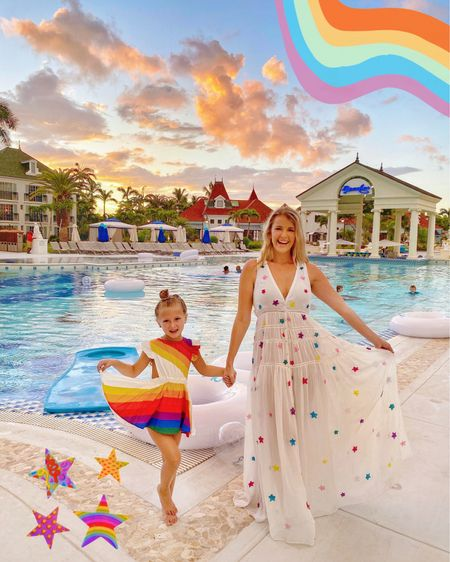 Sunset is my favorite color, but rainbow is a close second!  Rainbow vacation dresses linked!  http://liketk.it/2FYEq #liketkit @liketoknow.it