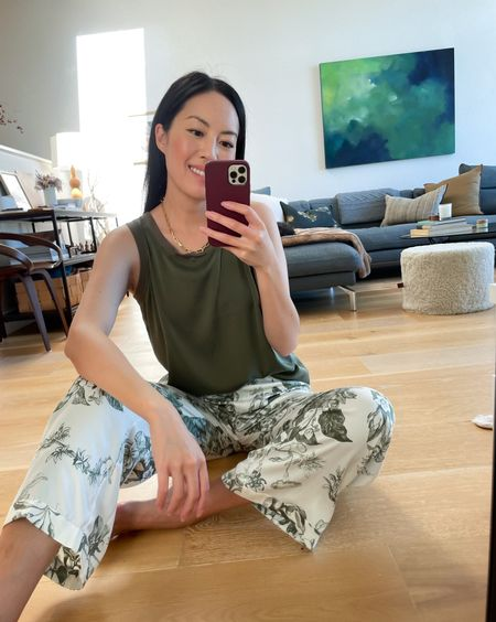 Loungewear ❤️ Washable silk pieces making my loungewear feel so luxe (and still practical!)   #LTKstyletip #LTKunder100