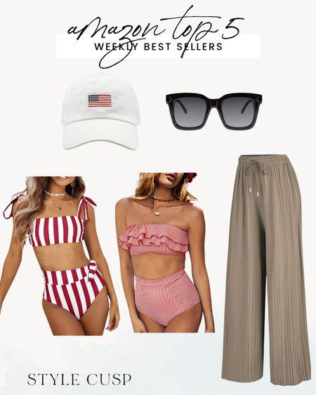 Amazon best sellers, amazon swim, flag hat, amazon sunnies, amazon finds @liketoknow.it http://liketk.it/3iUsj #liketkit