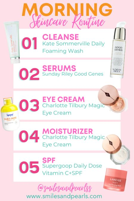 Morning Skincare Routine all available at Sephora! Use code: OMGSPRING for a discount!   #LTKSpringSale #LTKcurves #LTKbeauty