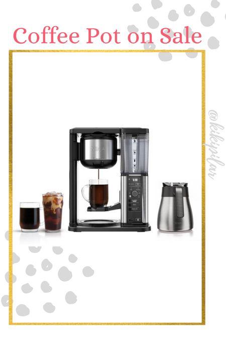 Our ninja coffee pot is on sale for $119 // hot coffee // iced coffee // specialty coffee   #LTKsalealert #LTKhome