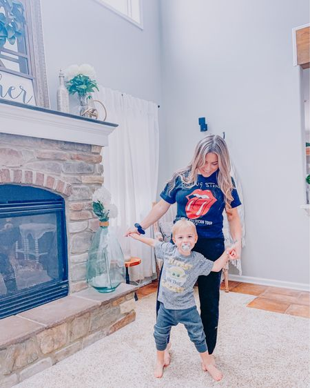 Anyone else turn on kids bop and dance with their toddlers and pretend they are back in da club? 😆  Silas and I also love the graphic tee section at Target. Check out our favorites. ❤️ http://liketk.it/38Z6h #liketkit @liketoknow.it