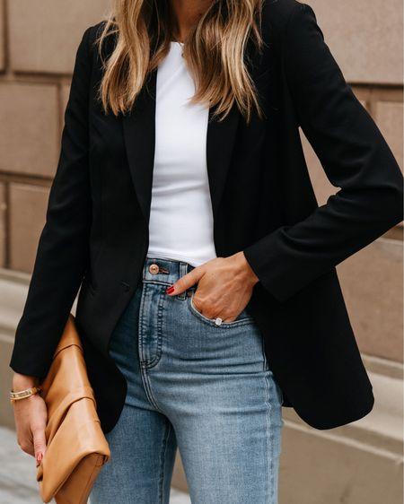 Black blazer outfit #businesscasual #workwear #express  #LTKstyletip #LTKworkwear #LTKunder100