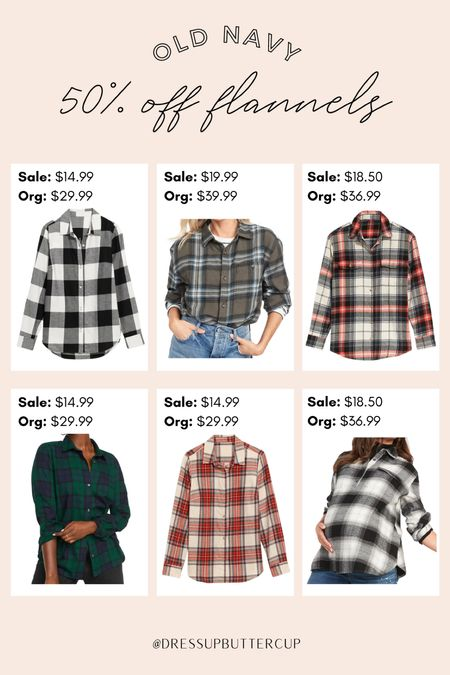 50% off Old Navy flannels today! Have worn these for years and always keep an eye out for these to go on sale!   #LTKstyletip #LTKsalealert #LTKSeasonal