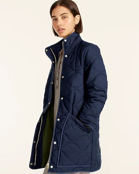 Cute puffer jacket from J Crew that doesn't make to look like a Puff a Lump #LTKFashion #LTKWomen #Jacket