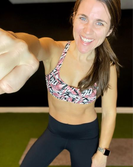 I am loving this leafy pattern CRZ Yoga strappy sports bra from Amazon! I also love these black CRZ Yoga Naked Feeling workout leggings from Amazon! Both fit true to size and are so comfy! This is such a cute outfit that supports my high intensity workouts! I also linked my leopard cheetah apple watch band! Click here to shop the full look! http://liketk.it/39hDr #liketkit @liketoknow.it #LTKfit #LTKstyletip #StayHomeWithLTK Follow me on the LIKEtoKNOW.it shopping app to get the product details for this look and others