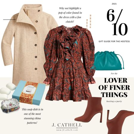 The season is nearly here for dinner parties, drop ins, and cocktails with neighbors. I like to plan ahead for things, and part of that is making sure I've got some hostess gifts set aside. On each slide you'll find a gift paired with an outfit perfect for a variety of different events!     #LTKGiftGuide #LTKHoliday #LTKSeasonal