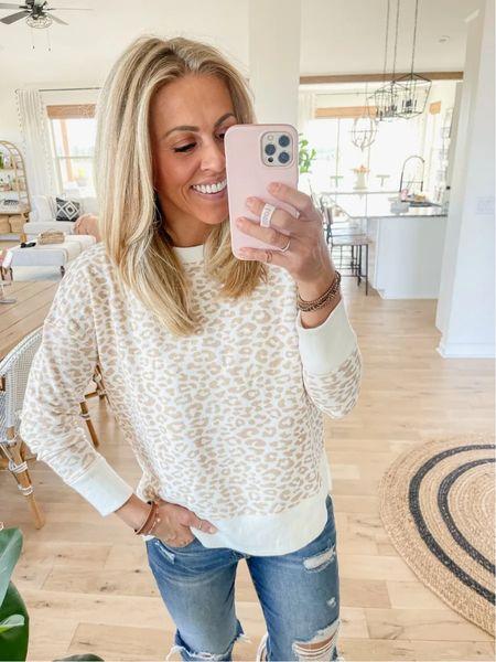 Crewneck Sweatshirt  Easy fall outfit idea $11.98 Wearing Size small Lots of colors   #LTKunder50 #LTKstyletip #LTKSeasonal