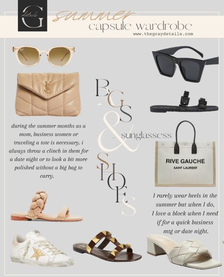 Summer capsule wardrobe / summer sandals / amazon sunglasses : summer totes   #LTKshoecrush #LTKitbag #LTKstyletip