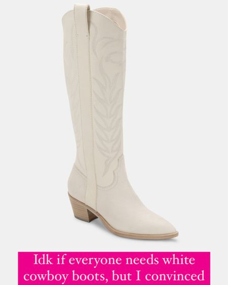 Solei boots white embossed leather! White cowboy boots, dolce vita leather boots.. Ordered my true size 7!!  http://liketk.it/3gQKP @liketoknow.it #liketkit #LTKshoecrush