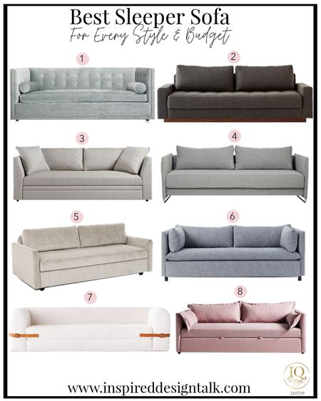 Best sleeper sofa ideas to update your Living room home decor.  Living room decor, sofa, couch, sofas, couches, bedroom decor, nursery decor, and more!  You can instantly shop my looks by following me on the LIKEtoKNOW.it shopping app   #LTKhome #LTKstyletip #LTKfamily