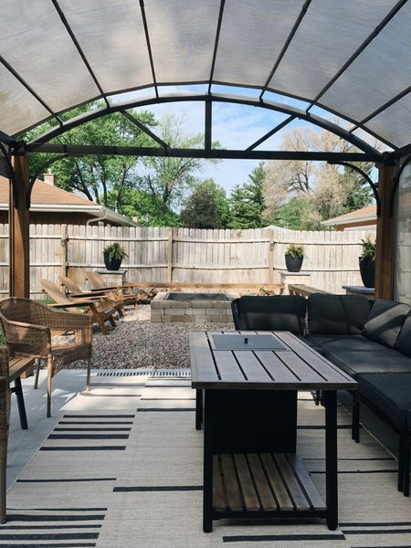 The difference in our backyard patio, from last year to this year, is UNREAL. We can't wait to spend time out here all summer long! ☀️  #LTKstyletip #LTKhome #LTKSeasonal