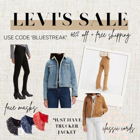 http://liketk.it/32qmj #liketkit @liketoknow.it #LTKSale #LTKsalealert #LTKunder100 Levi's Denim sale  40% off with code BLUESTREAK on Levi's website Jeans / Denim / Trucker Jacket / Sherpa Jacket / Wedgie Jeans