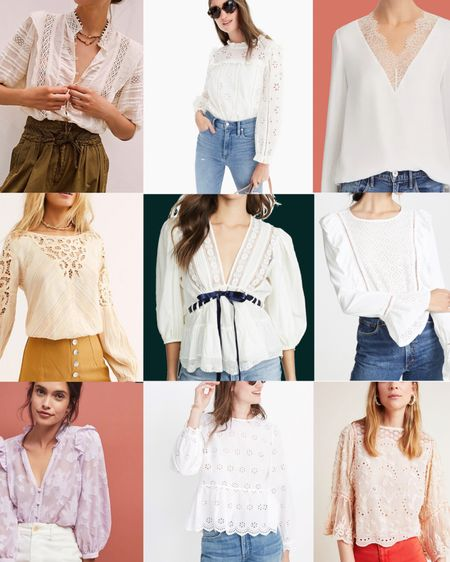 🌸🌸🌸lacy romantic boho tops🌸🌸 🌸  All my favs are up on the blog! (Link in bio) ! http://liketk.it/2BdBh #liketkit @liketoknow.it #LTKunder100 #LTKstyletip #LTKsalealert #spring #summer #themomedit #themomeditstyle #fashion