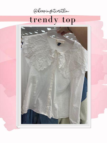 Oversized collar shirt at target. I bought it in xxl    #LTKunder50 #LTKcurves