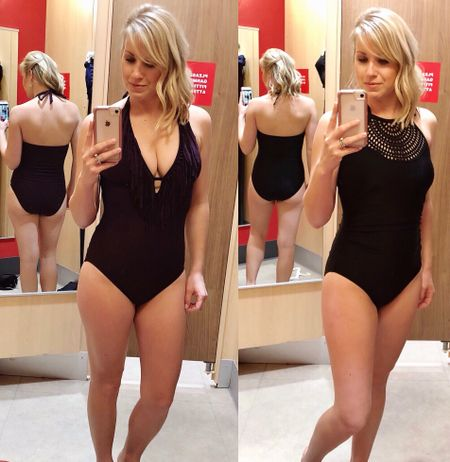 FYI- all Womens swimwear is buy 1 get 1 50% off online only @target   Gone are the days when wearing a one-piece swimsuit meant you were sun- averse, a serious swimmer, or body-conscious! There are some seriously cute one-piece with styles anyone can love in cuts and colors that rival the two-piece you've been wearing for years!! Here are two stylish, flattering, budget friendly options that will remind you that two (pieces) aren't always better than one 😉 http://liketk.it/2v7pB @liketoknow.it #liketkit