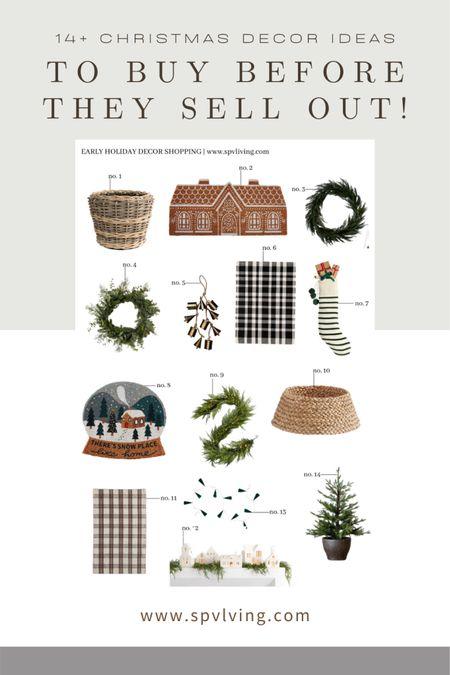 14+ Christmas Decor Ideas to Buy before They Sell Out!  #christmas #holiday #holidaydecor #christmasdecor #mcgeeandco #shoppebyamberlewis #mcgeechristmasdecor #amberlewischristmas #moderncottage #cottagechristmas   #LTKHoliday #LTKSeasonal #LTKGiftGuide