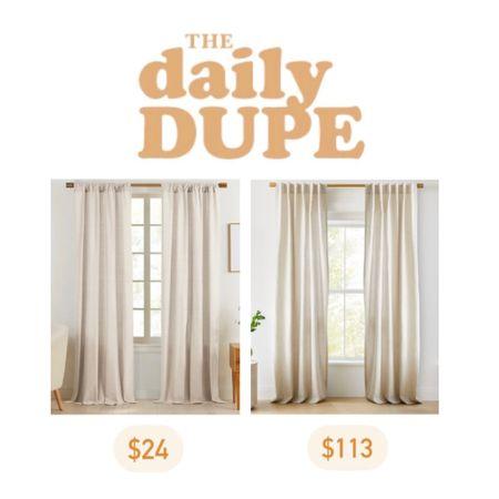 curtains, home decor, daily dupe, save vs splurge