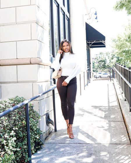 Leather pants, faux leather, brown faux leather pants, leather leggings, chunky sweaters, thanksgiving outfit ideas, express, Nordstrom, Steve Madden   #LTKHoliday #LTKSeasonal #LTKstyletip