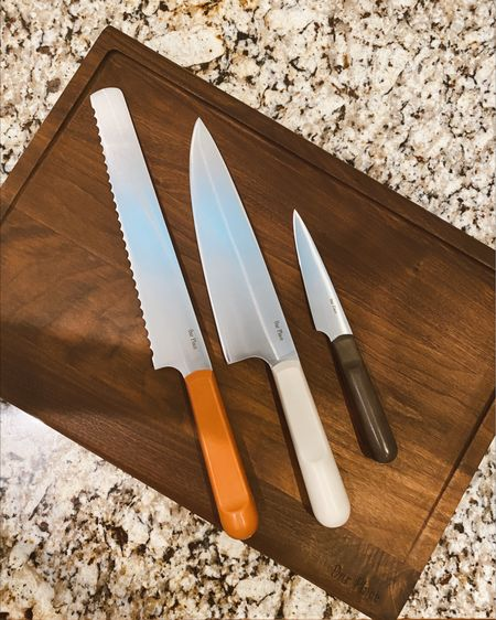 The new Our Place knives and cutting board 😍 SO GORGEOUS!!! Use code LAKESHORELADY for 10% off! http://liketk.it/3hhhl #liketkit @liketoknow.it #LTKhome #LTKunder100  Cutting knives Cooking Kitchen items Our place cutting board