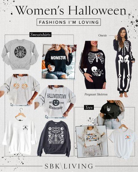 H A L L O W E E N \ 10 Halloween fashions I'm currently loving!!🖤💀🤍  #halloween #halloweenshirt #skeleton #pumpkins #fall #fallfashion #halloweencostume  #LTKunder50 #LTKSeasonal #LTKHoliday