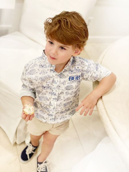 Boyce looks so handsome in his Dondolo Dallas print button up shirt. Linking exact shirt and the entire collection below.   #LTKkids #LTKfamily #LTKbaby