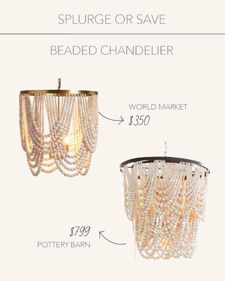 Splurge or Save | Wooden beaded chandelier to add character to any space🤍   #LTKhome #LTKsalealert #LTKstyletip