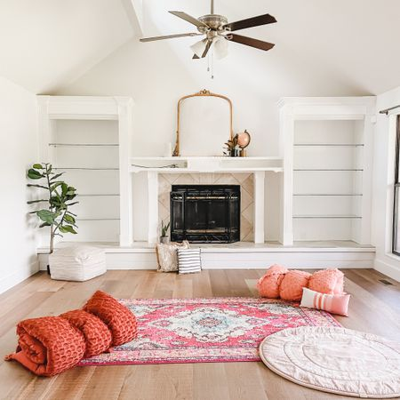 Living room set up boho picnic style   #LTKhome #LTKstyletip #LTKfamily