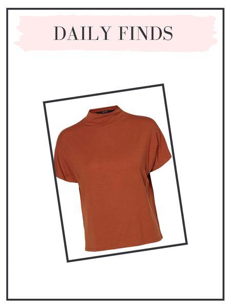 Daily finds: the perfect layering mock neck tshirt.   #LTKunder100 #LTKSeasonal #LTKunder50