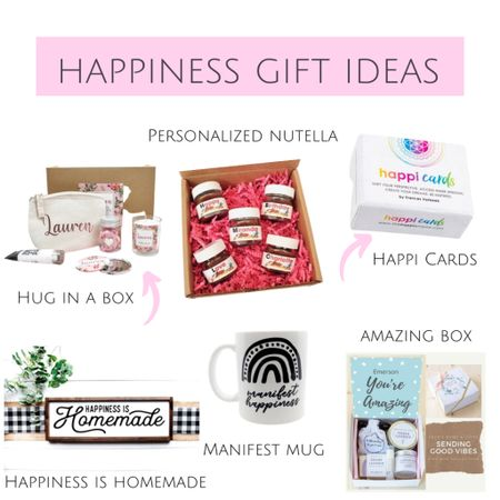 Happiness & self care gift ideas for Christmas! These make great gift ideas for friends and gifts for best friends! Christmas gift ideas for her!   #LTKFall #LTKhome #LTKunder100