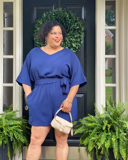 An easy romper that can be casual or dressed up. Comfy and cute - my faves!   #LTKcurves #LTKstyletip #LTKunder50