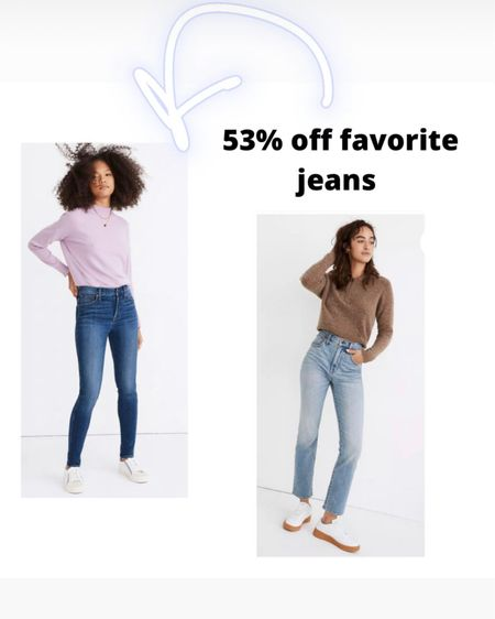 """53% off some of the best jeans I've ever met!  And another sale pair that looks very cute, comfortable, and flattering. http://liketk.it/3fpD0   #liketkit @liketoknow.it #LTKcurves #LTKunder100 #LTKsalealert @liketoknow.it.brasil @liketoknow.it.europe @liketoknow.it.family #madewell #highwaistedjeans #highwaistjeans #highrisejeans #agolde  @liketoknow.it.home Shop your screenshot of this pic with the LIKEtoKNOW.it shopping app Madewell petite curvy road tripper authentic jeans in benton wash: knee-rip edition  Madewell jeans Madewell 10"""" High-rise skinny jeans in Bradshaw washHigh waisted jeans High rise jeans High-waisted jeans High-rise jeans High-Waist jeans High waist jeans Highway jeans Asos Agolde"""