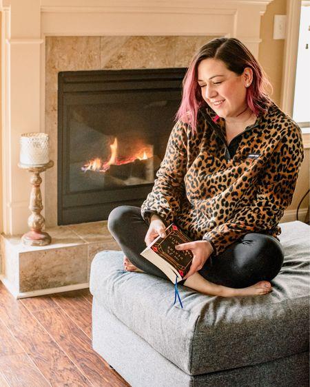 Staying cozy in my leopard print fleece all winter long 🐆   #LTKsalealert #StayHomeWithLTK #LTKcurves