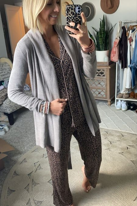 The BEST barefoot dreams cardigan from the #nsale this year! I love the draping + fit of this one. Plus the pockets + optional tie detailing!  I got my true size small in this one.   AND this is fully stocked in 3 colors!  #LTKstyletip #LTKsalealert #LTKunder100