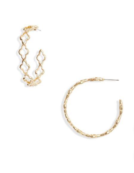 Kendra Scott Hoop Earrings  #LTKunder50 #LTKstyletip #LTKworkwear